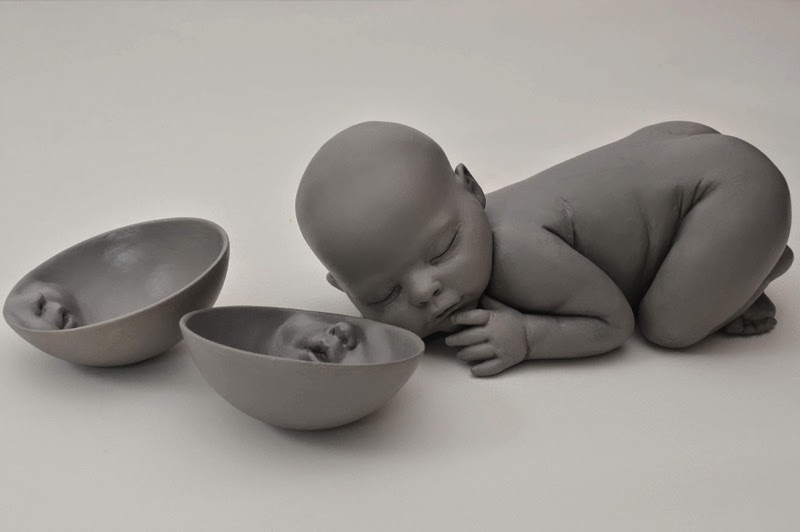 clay sculptures by Ronit Baranga