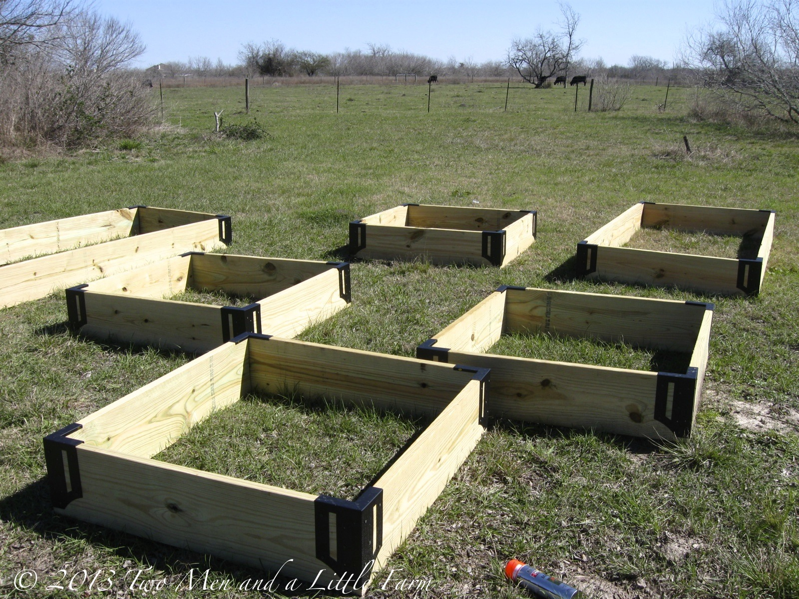 Two men and a little farm raised garden beds step two for Garden step designs uk