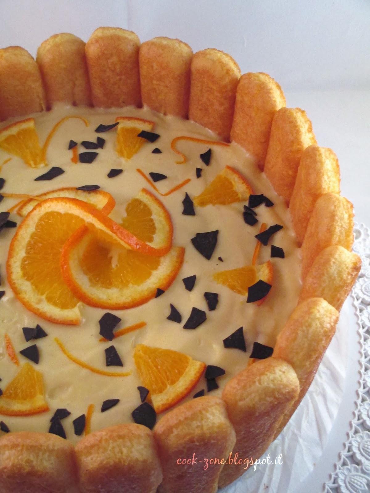 un omaggio alla regina carlotta d'inghilterra: la charlotte all'arancia e cioccolato