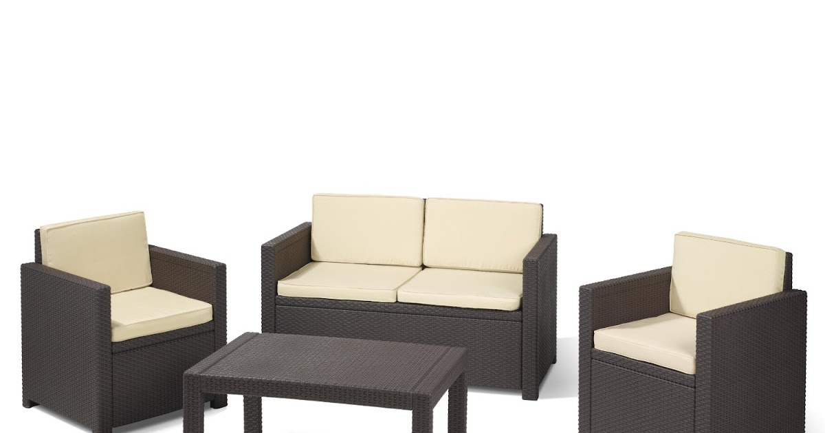 lounge gartenm bel allibert 189225 lounge set victoria set rattanoptik kunststoff braun von. Black Bedroom Furniture Sets. Home Design Ideas