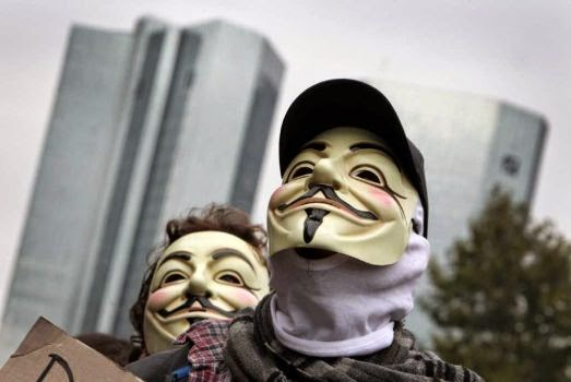 "The loosely affiliated hacking collective Anonymous is well known for their ""ops"" and ""raids"" on government, corporate and religious websites. Some believe them to be malicious trolls and others call them digital Robin Hoods. We've compiled a list of some of the notable attacks Anonymous has conducted over the years. Photo: DANIEL ROLAND / AFP"