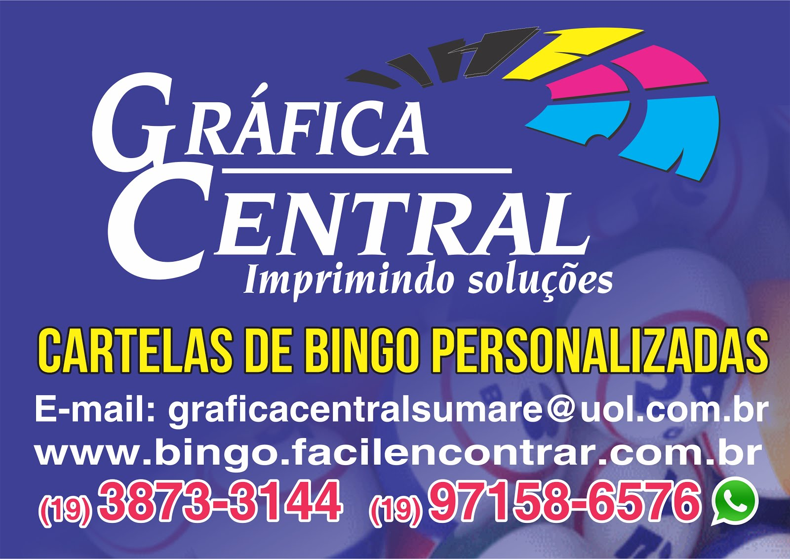 CARTELAS DE BINGO PERSONALIZADAS
