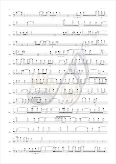 2 Burbujas de Amor Partituras en clave de fa fagot chelo tuba trombón. bombardino...