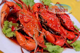 Kepiting Saus juga kuliner andalan di kota Balikpapan