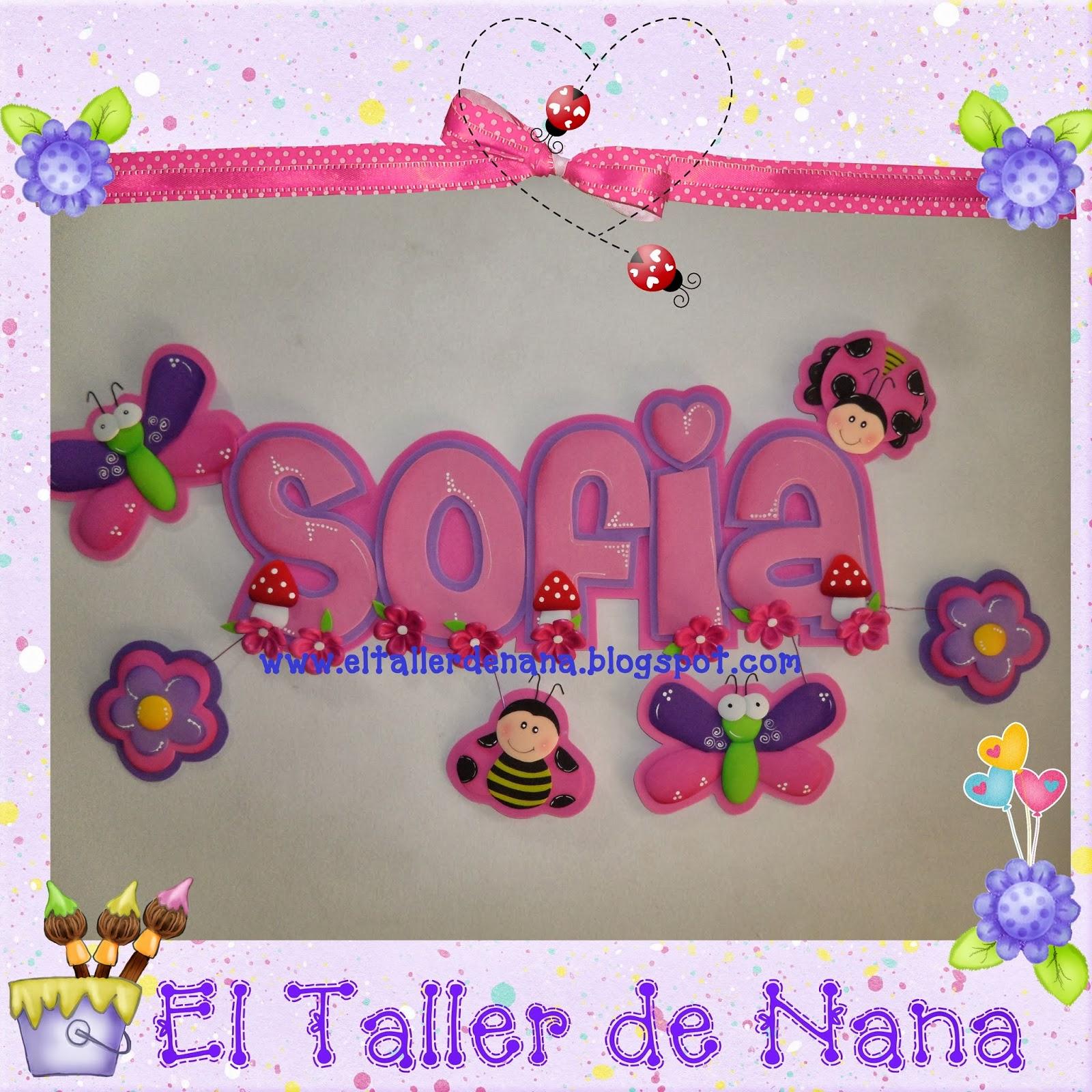 El Taller de Nana: Nombres en Foami