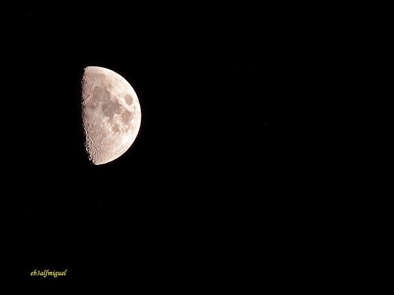 Miguel fotografia: LA LUNA HOY 29-12-2014 Cuarto Creciente