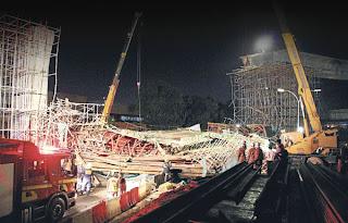gambar runtuhan jambatan kedua pulau pinang