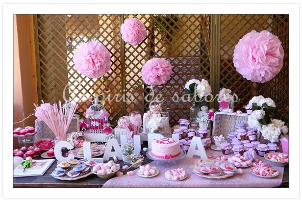 Arco ris de sabores tarta y cupcakes para claudia - Mesa de chuches casera ...