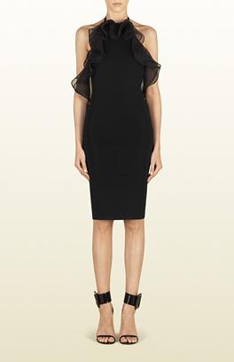 siyah kısa elbise, gece elbisesi, volanlı elbise, tüllü elbise