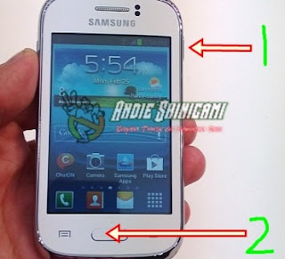 Cara Mudah Screenshot Layar Samsung Galaxy Young 2