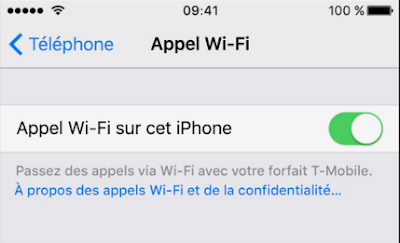 Apple propose la fonctionnalité de Appels Wi-Fi