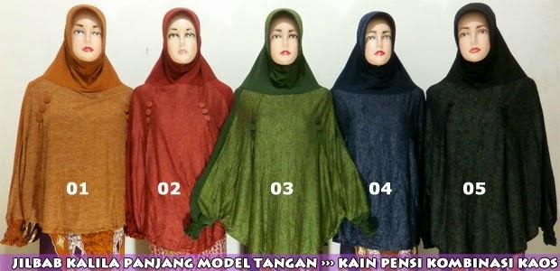 Grosir jilbab lengan panjang murah model terbaru