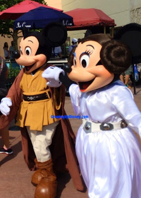 Star Wars Weekends, Growing Up Disney, Jedi Mickey Mouse, Leia Minnie Mouse
