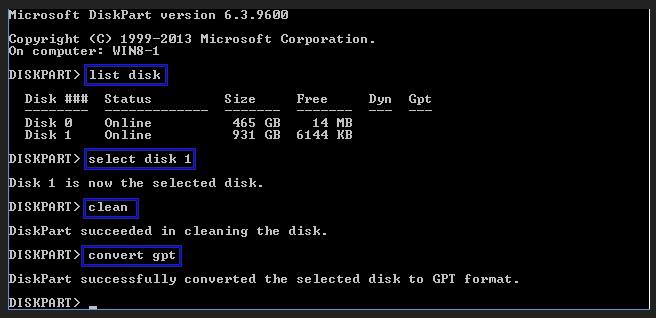 Gpt диск как сделать mbr