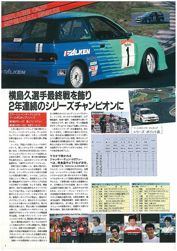 Mitsubishi Mirage Cyborg C53A C83A Colt C50 hot hatchback japoński sportowy 日本車 三菱 ミラージュ