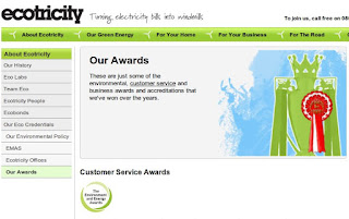 Part of ecotricity's website
