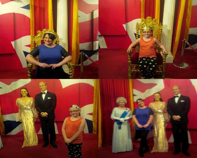 pictures from madame tussaurds blackpool
