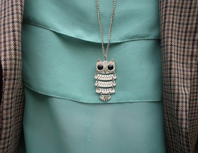 Topshop owl necklace