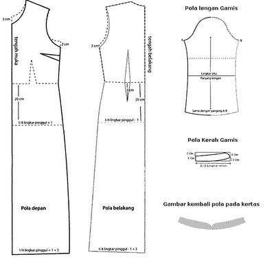 Pola Gamis Dengan Krah Syal