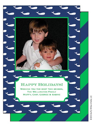 Muffy Writes a Note holiday photo card