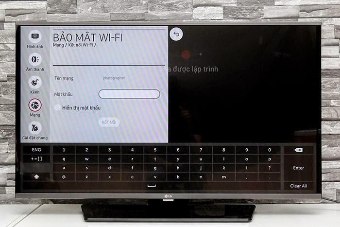 Nhập mật khẩu của mạng Wifi bạn muốn kết nối