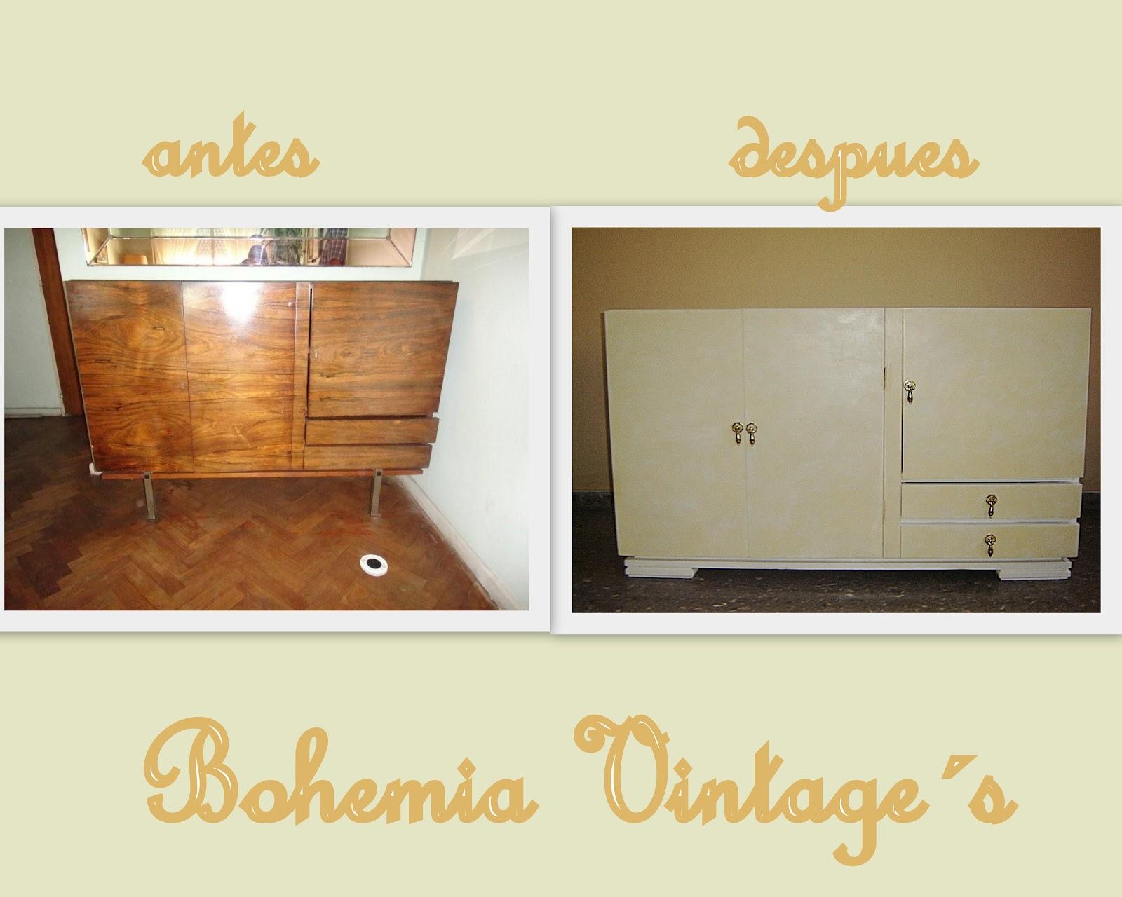 Entre tiempos y bohemia mueble a os 50 reciclado como - Mueble anos 50 ...