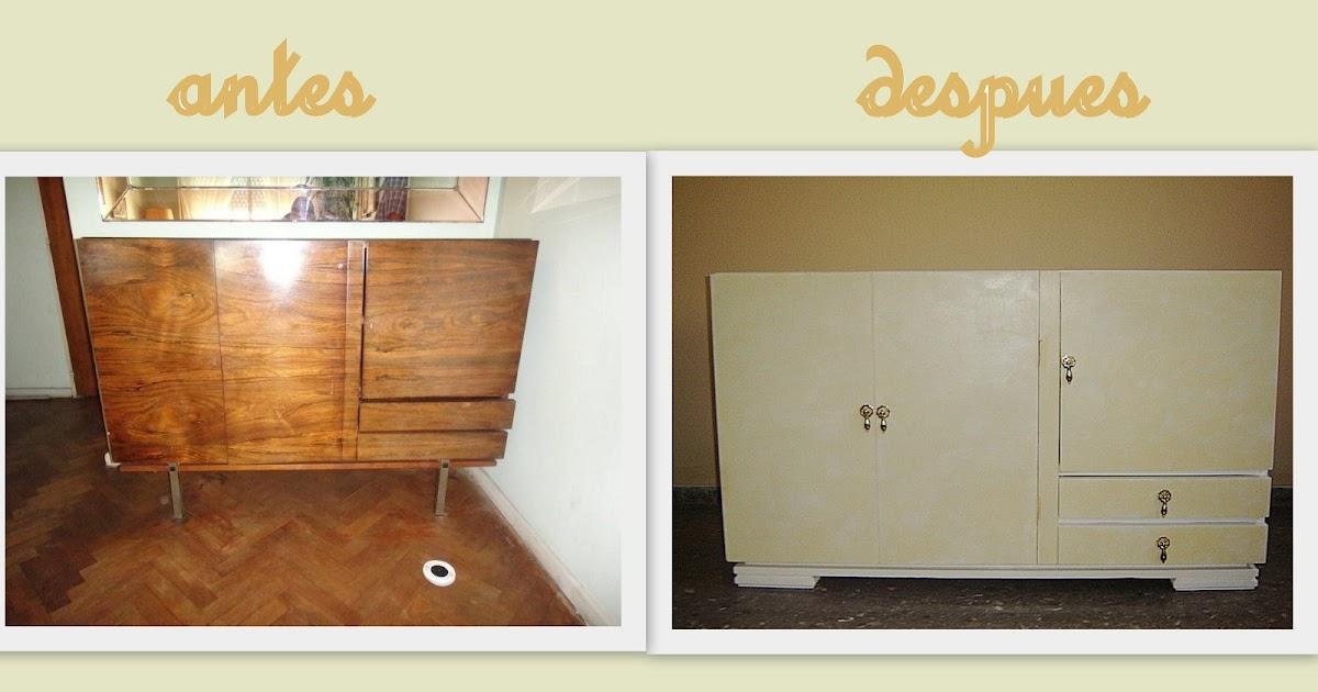 Entre tiempos y bohemia mueble a os 50 reciclado como mueble bajo - Mueble anos 50 ...