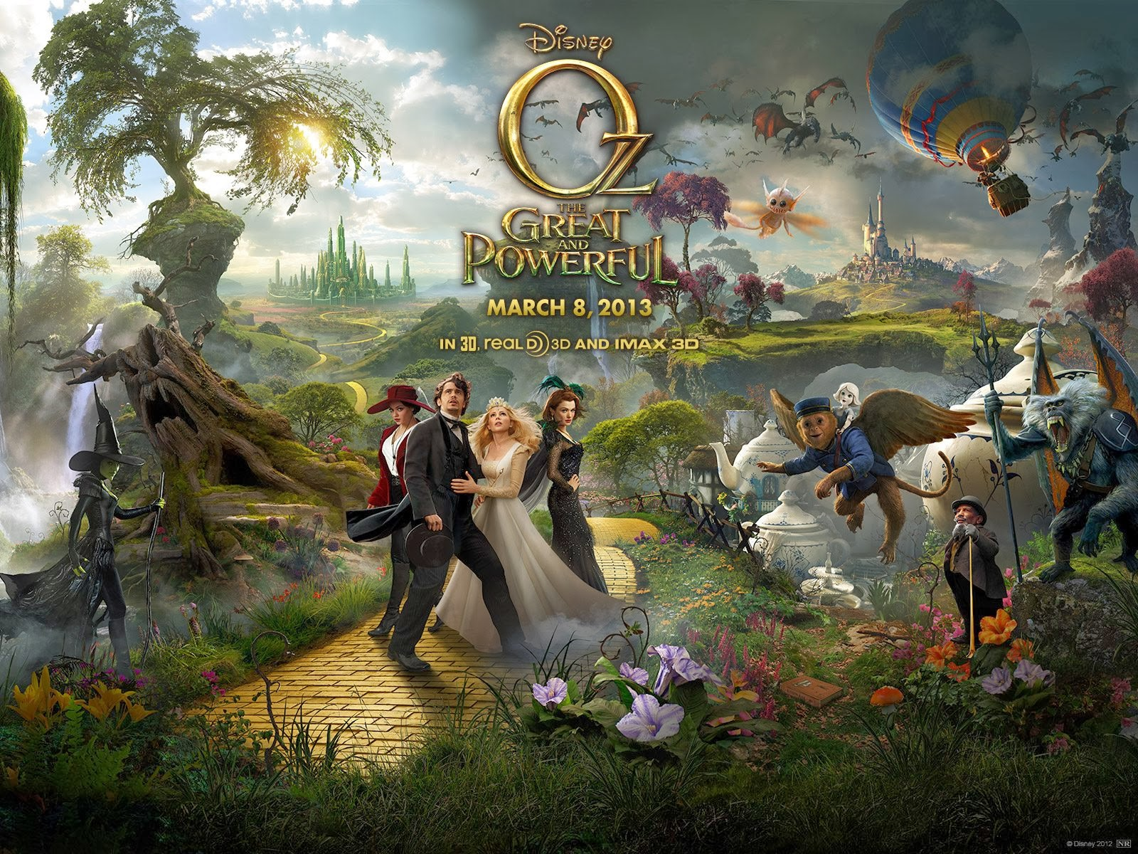 Oz The Great and Powerful Finley and Oscar (James Franco) - james franco oz the great and powerful wallpapers