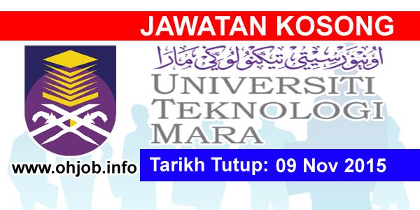 Jawatan Kerja Kosong Universiti Teknologi MARA (UiTM) Sabah logo www.ohjob.info november 2015