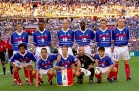 Seleção da França campeão da copa do mundo 1998