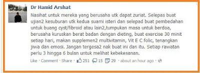 Nasihat Dr Hamid Arshat Untuk Pasangan Yang Berusaha Untuk Memiliki Zuriat.
