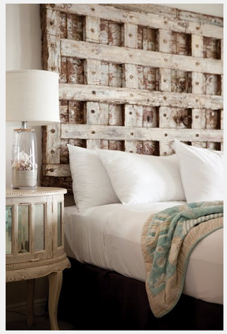 do it yourself creative headboards ideas using shutters doors windows or fireplace mantels - Creative Headboards