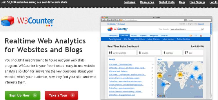 W3counter Web Analytics tool