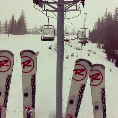 rental skis on lift