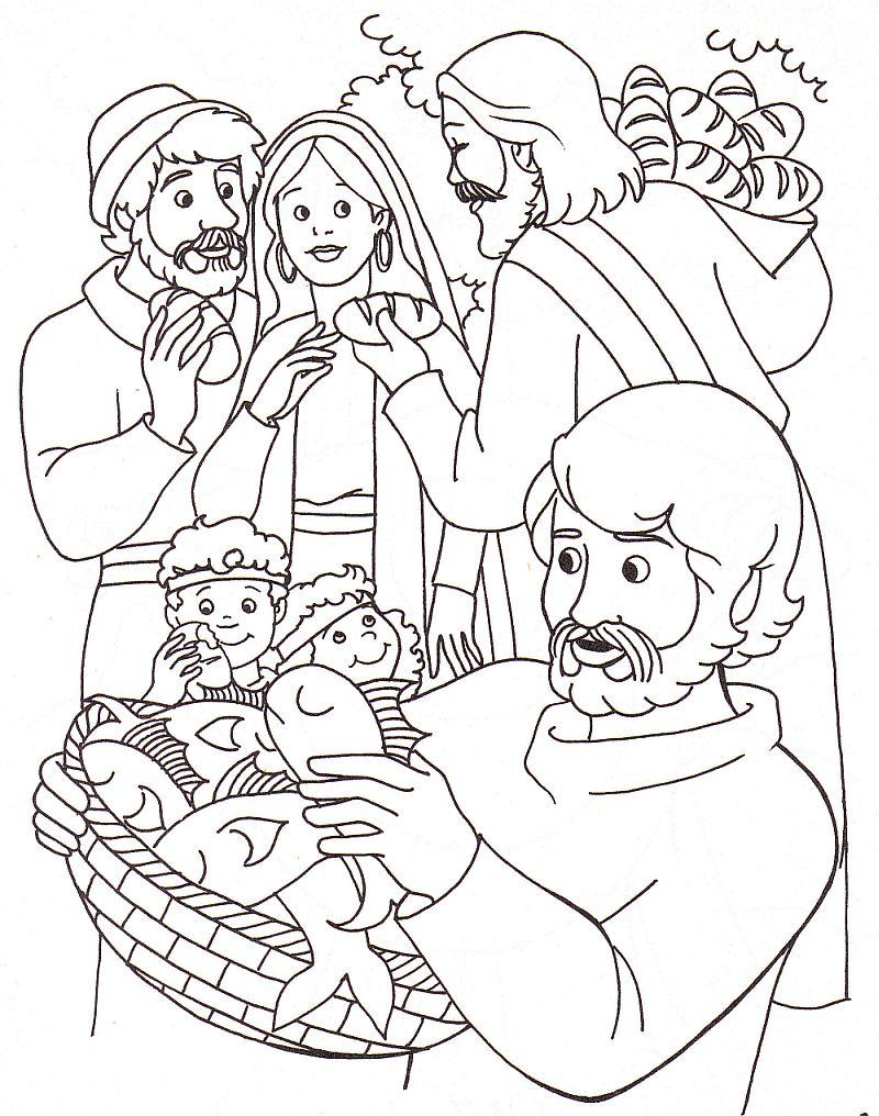 Tuhan Yesus memberi makan 5000 orang dengan 5 roti dan 2 ikan