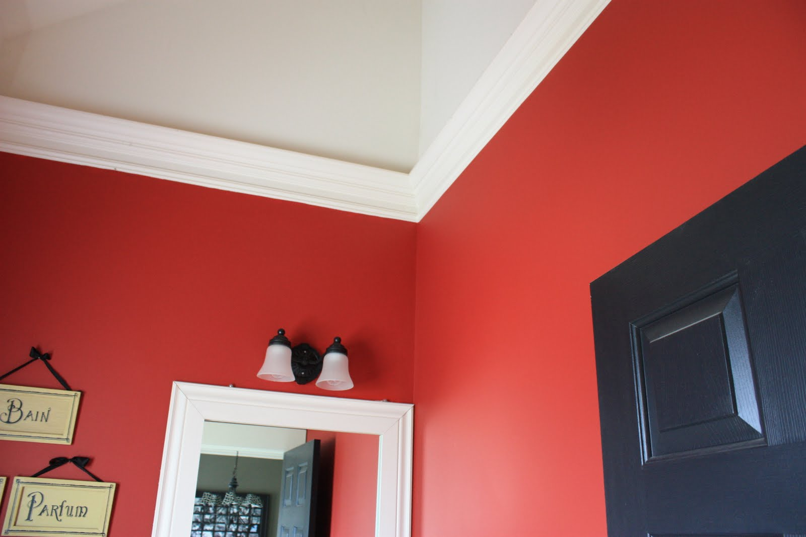 Perfect Black And Red Painted Bedroom Dark Blue Wall Intended