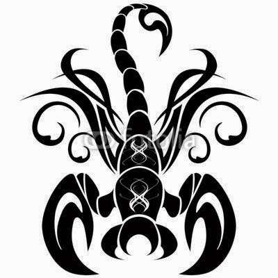 Diseño Tatuaje tribal signo Escorpion 15