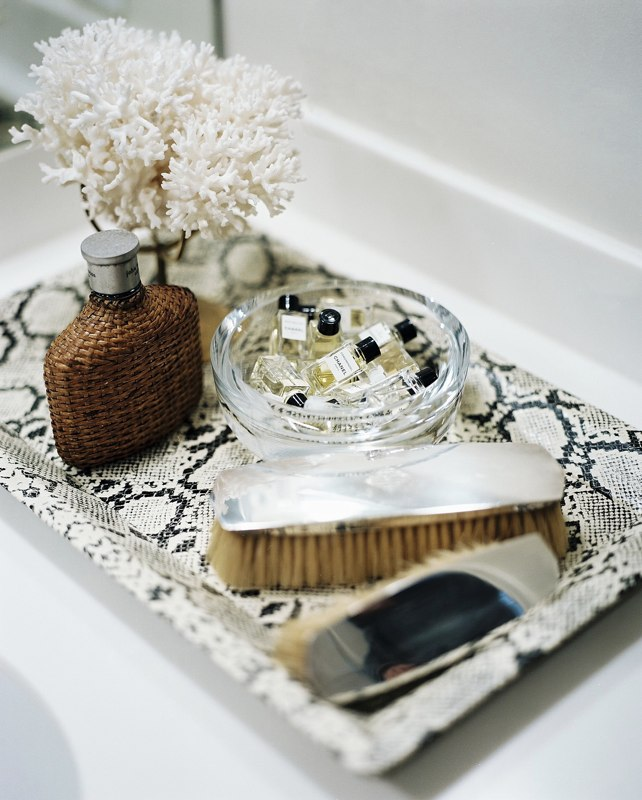 Andrea hebard interior design blog bathroom supplies for Bathroom tray