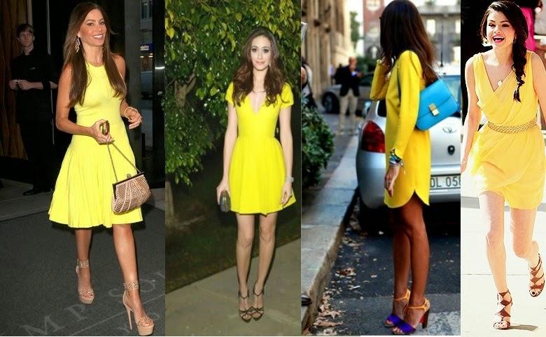 Zapatos para vestido amarillo y blanco