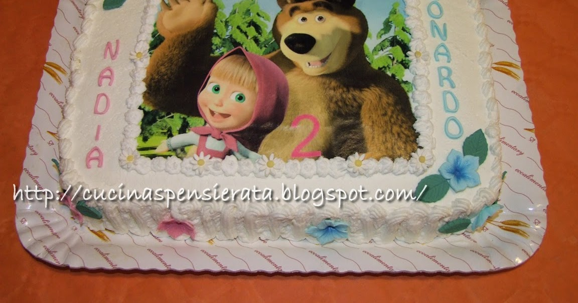 Cucina spensierata torta masha e orso con nuova ricetta