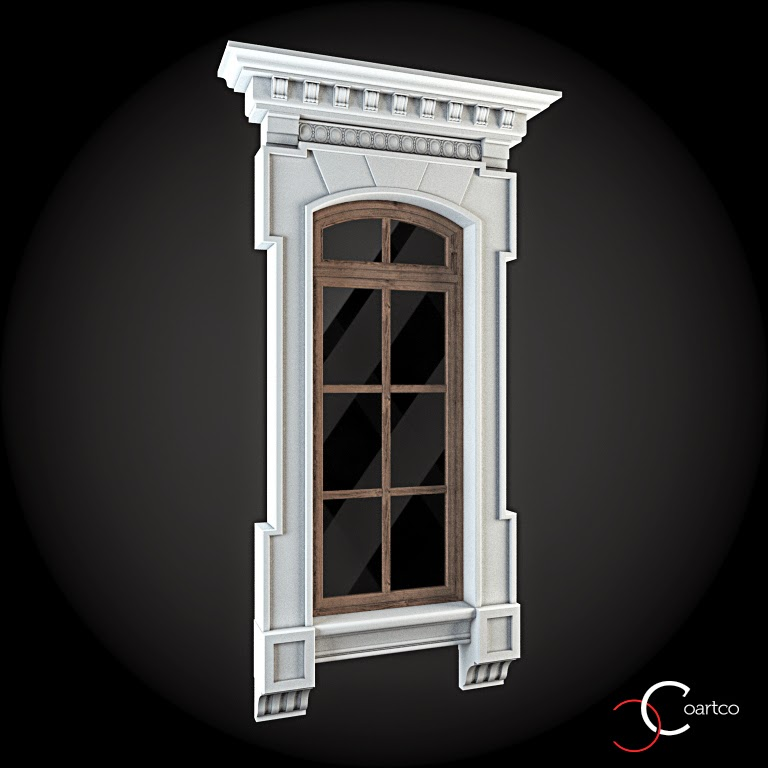 Ornamente Geamuri Exterior, fatade case cu profile decorative polistiren, profile fatada,  Model Cod: WIN-047