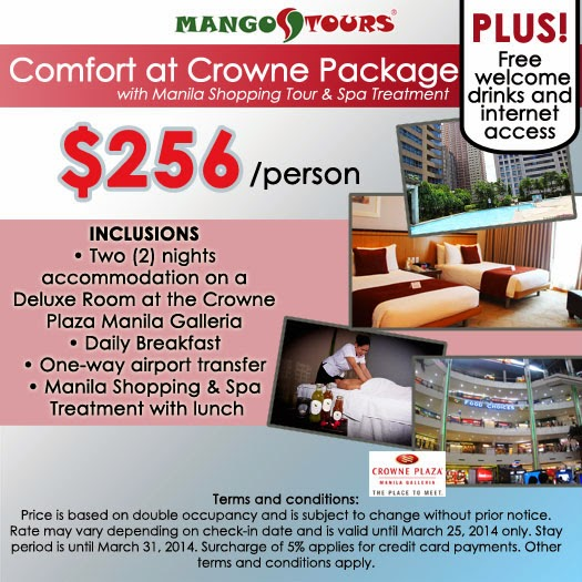 Mango Tours Crowne Plaza Manila Galleria Promo Package Accommodation