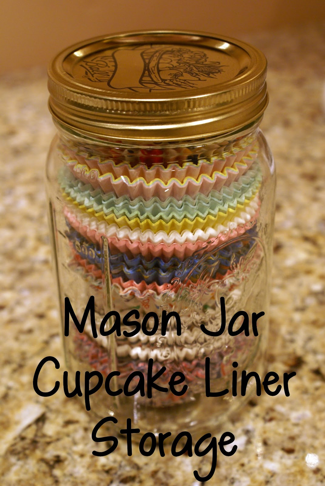 Mason Jar Cupcake Liner Storage