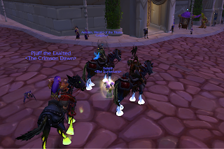 Hooves on fire