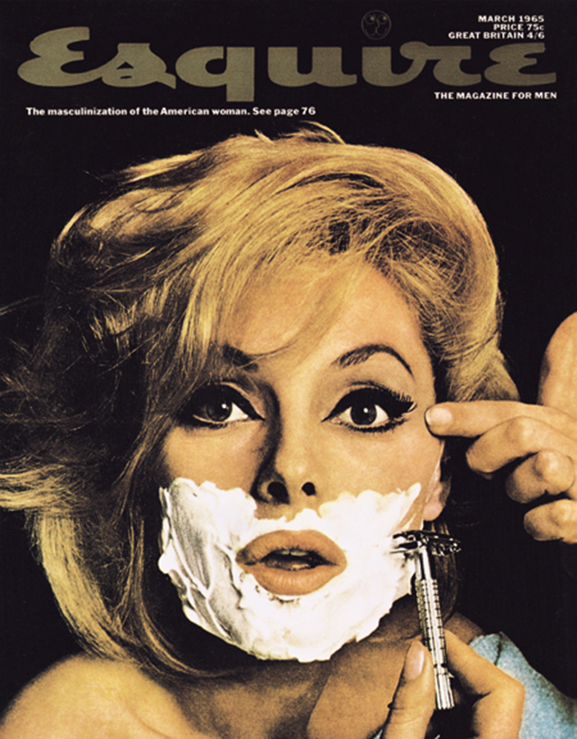 Cover of 1965 Esquire magazine, The masculinization of the American woman.