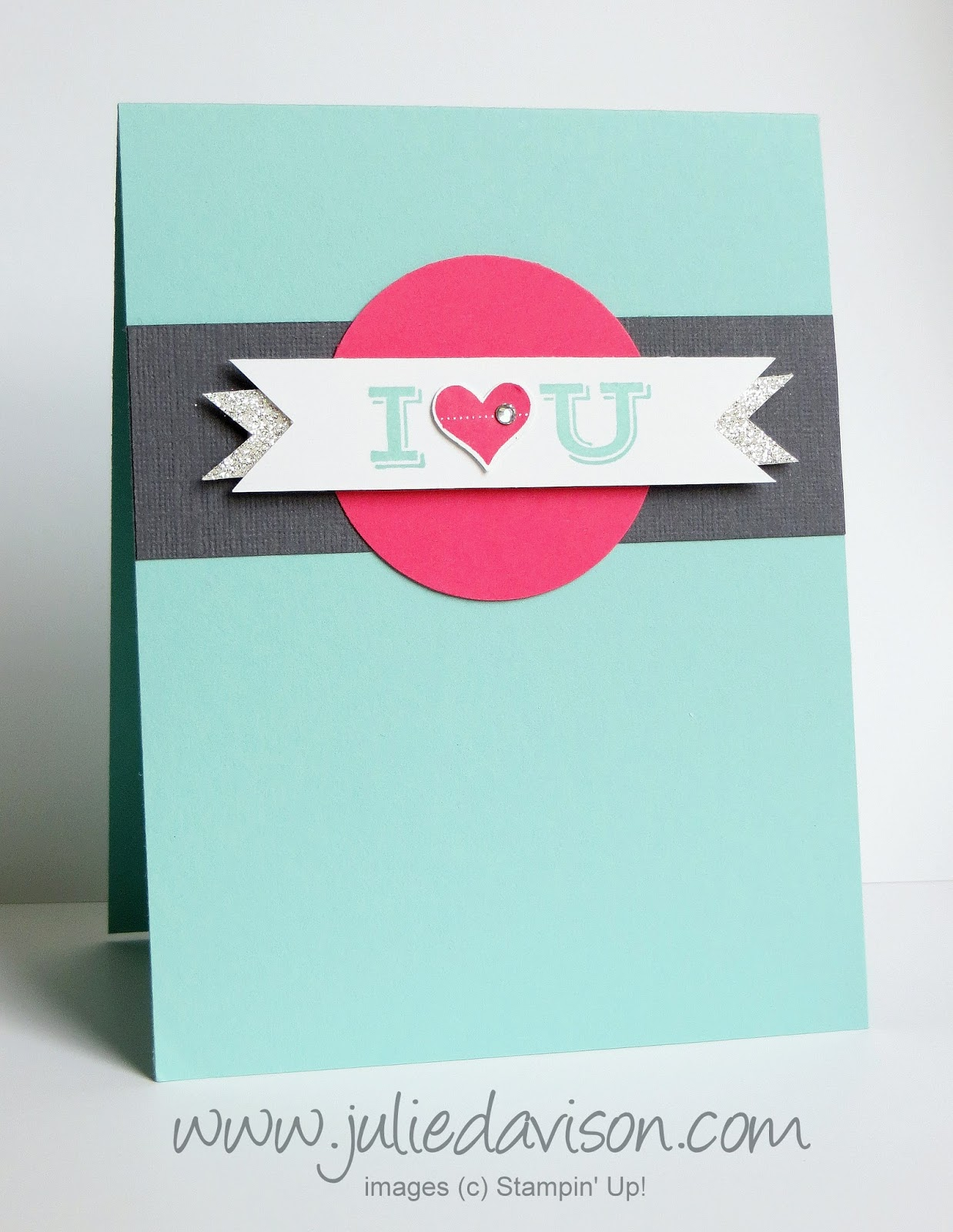 Stampin' Up! Pictogram Punches Valentine Card