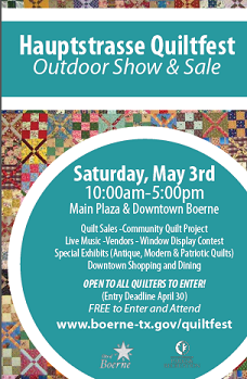 Boerne Quilt Show--Click on the poster to go to the website.