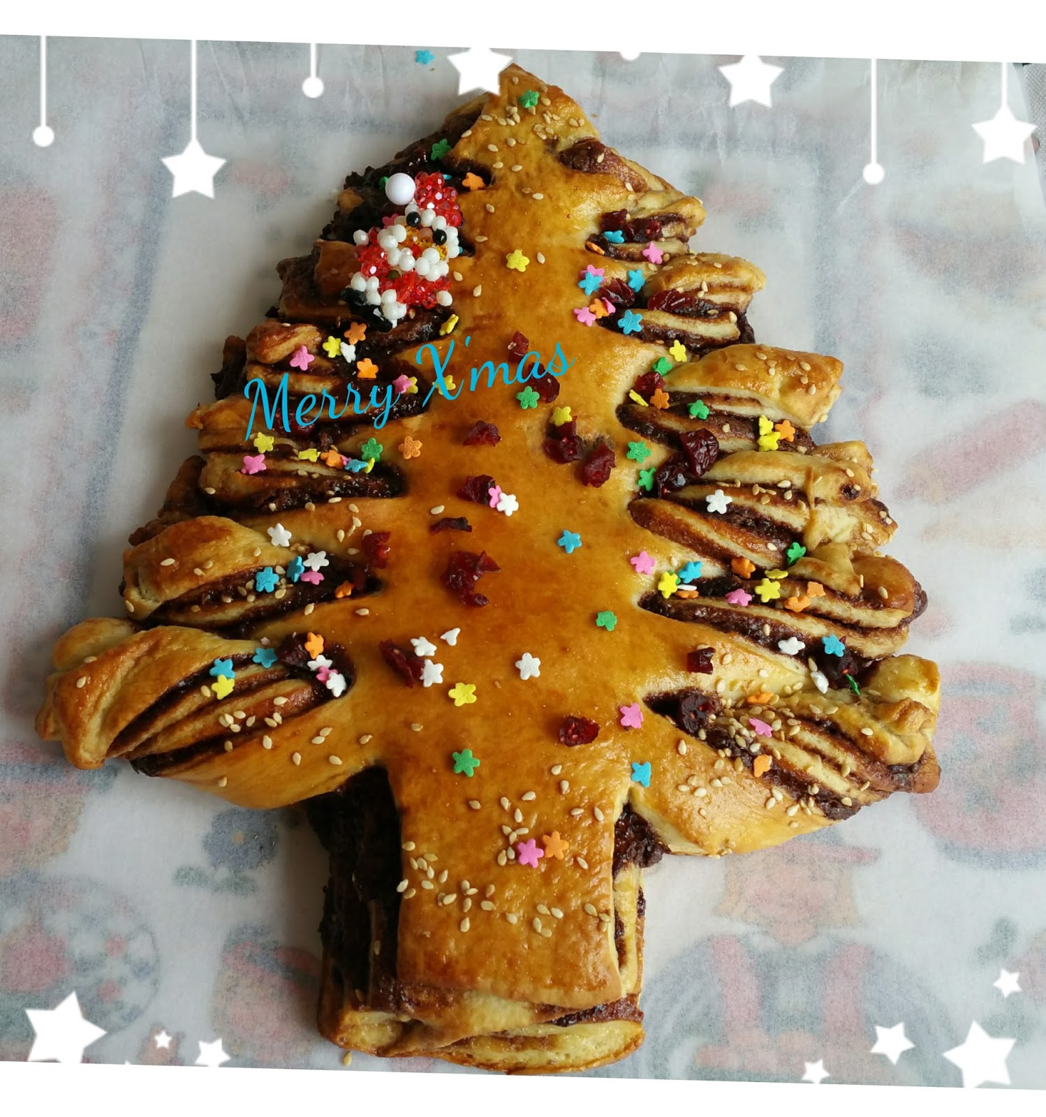 christmas tree nutella bread hi dear bloggers and friends today is christmas eve here i would like to wish everyone of you a very merry xmas and a