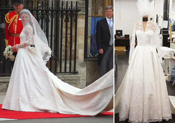 Custom-made Miss Middleton's wedding dress 01