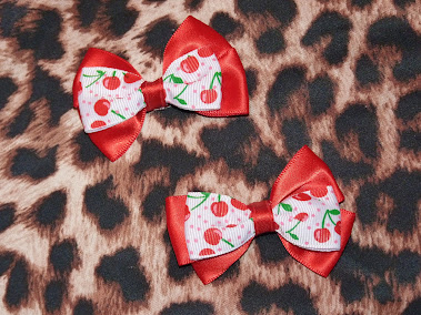 cherry bow haircandy